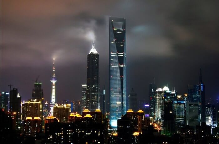 Shanghai World Financial Center Gece Görüntüsü