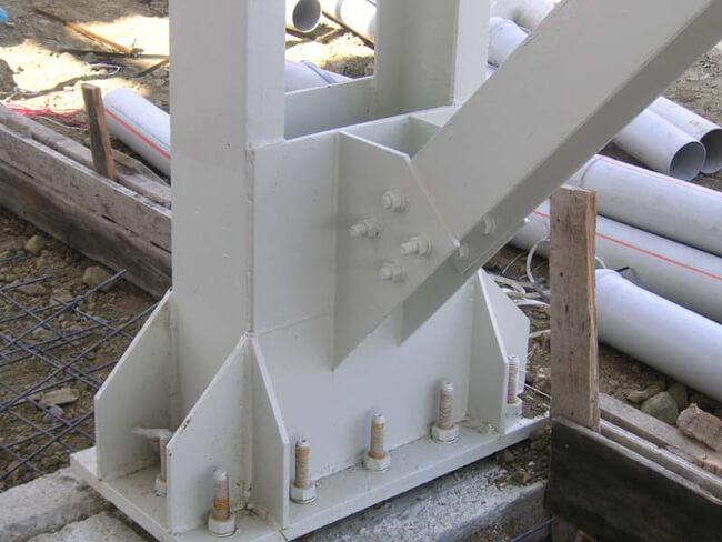 Bulonlar hakkında örnek bir çelik yapı görseli