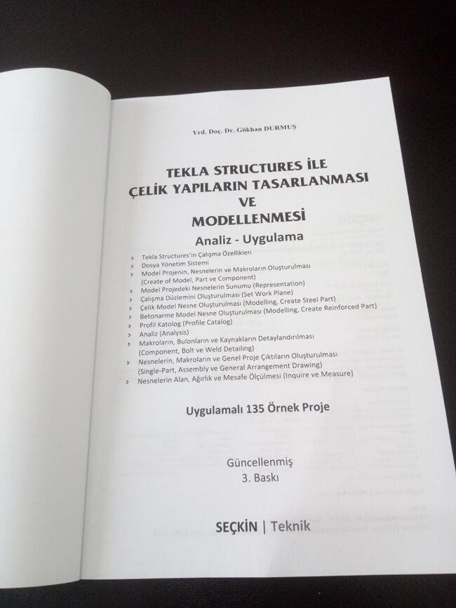 Tekla Structures Kitap İçeriği