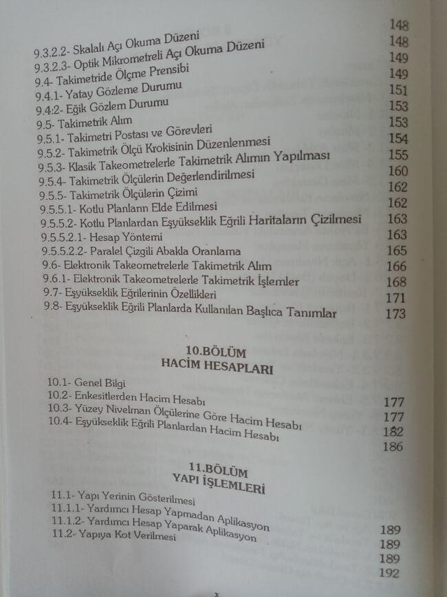 Topografya kitabı içindekiler 6